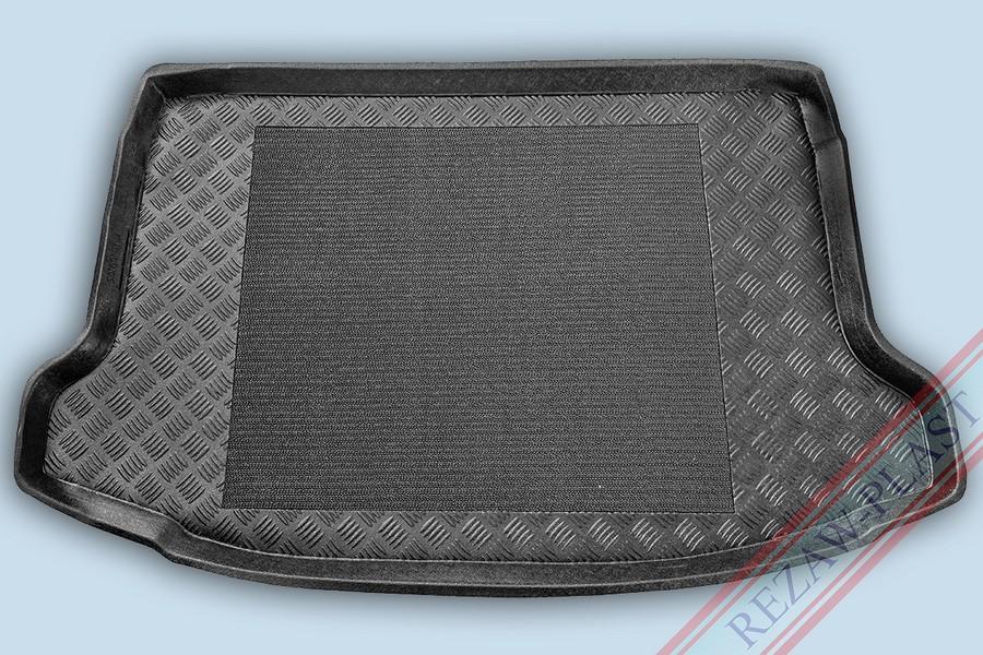 Kofferraumwanne mit erhöhtem Rand gegen Überschütung