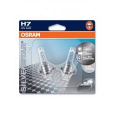 Autolampe OSRAM 12V H7 55W Silverstar 60% - Satz von 2 Glühbirnen