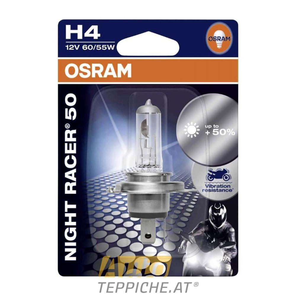 Motorrad Glühlampe OSRAM 12V H4 60/55W NightRacer 50