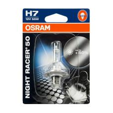 Motorrad Glühlampe OSRAM 12V H7 55W NightRacer 50