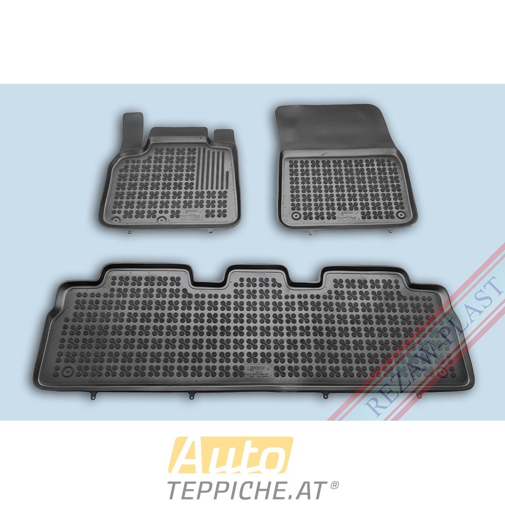 Gummi-Fußmatten mit hohem Rand für Renault Espace IV (erste und zweite Reihe) (2002-2014)